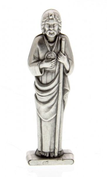St Jude Pocket Statue with Holy Card - Multi-Color