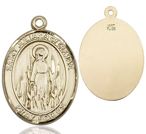 St. Juliana of Cumae Medal - 14K Yellow Gold
