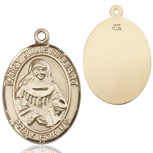 St. Julie Billiart Medal - 14K Solid Gold