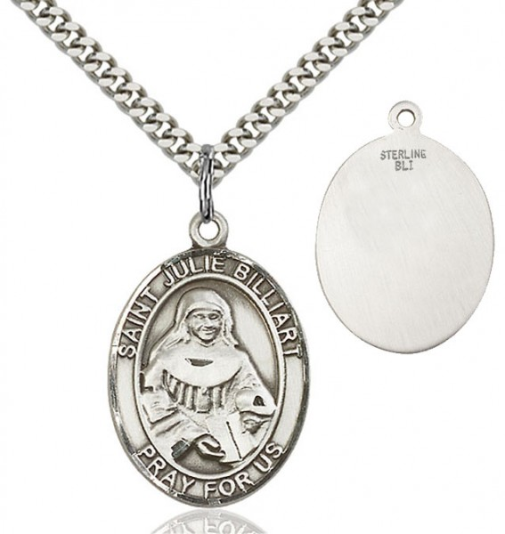 St. Julie Billiart Medal - Sterling Silver
