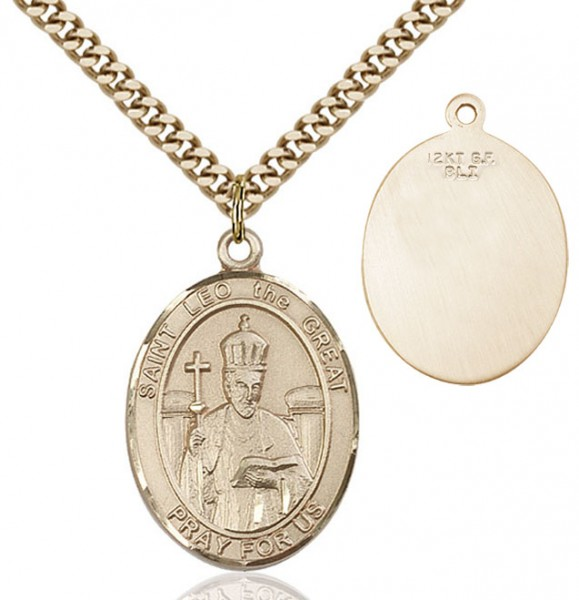 St. Leo the Great Medal - 14KT Gold Filled