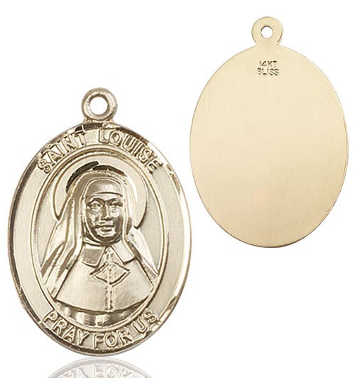 St. Louise de Marillac Medal - 14K Solid Gold