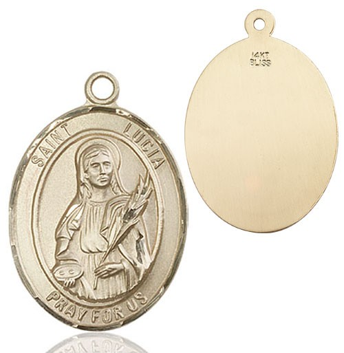 St. Lucia of Syracuse Medal - 14K Solid Gold