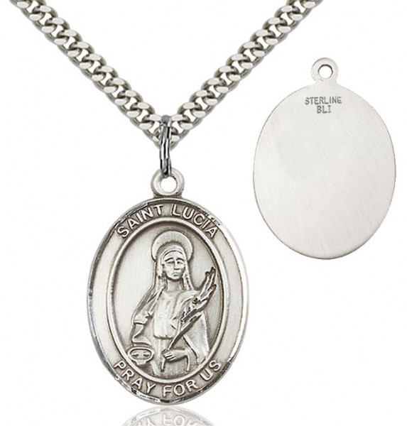 St. Lucia of Syracuse Medal - Sterling Silver