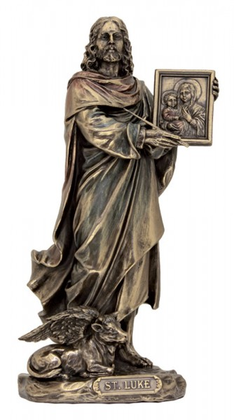 St. Luke the Evangelist Statue - 8 1/2 inches - Bronze