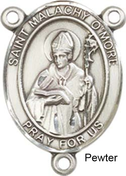 St. Malachy O'more Rosary Centerpiece Sterling Silver or Pewter - Pewter