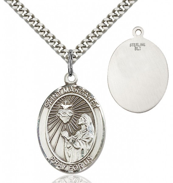 St. Margaret Mary Alacoque Medal - Sterling Silver