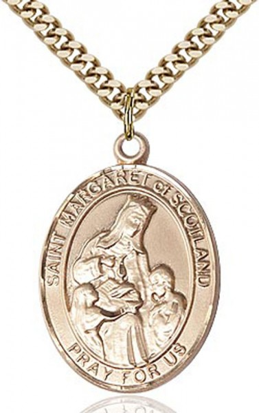 St. Margaret of Scotland Pendant - 14KT Gold Filled