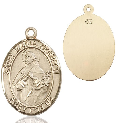 St. Maria Goretti Medal - 14K Solid Gold