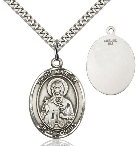 St. Marina Medal - Sterling Silver
