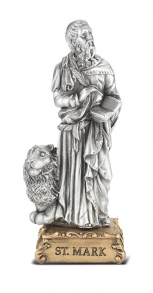 Saint Mark Pewter Statue 4 Inch - Pewter