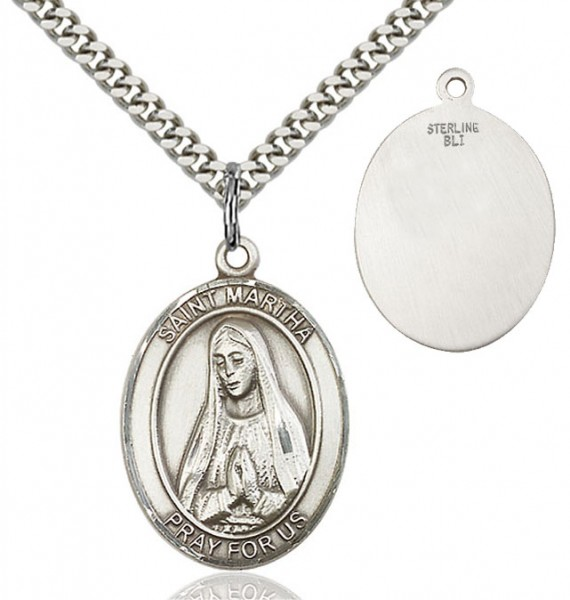 St. Martha Medal - Sterling Silver