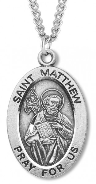 St. Matthew Medal Sterling Silver - Sterling Silver