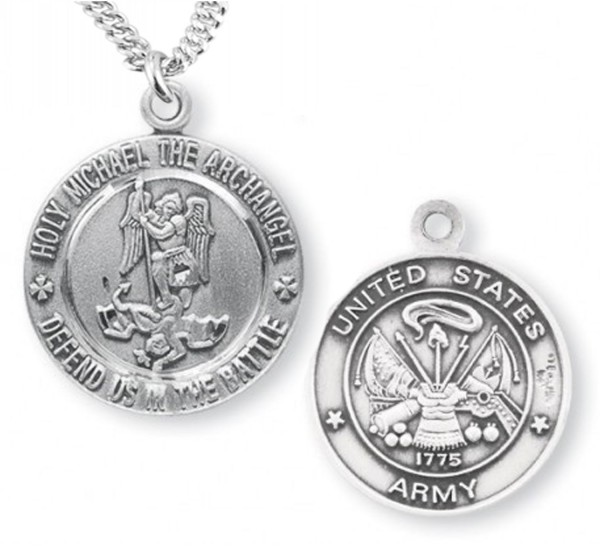 St. Michael Army Medal Sterling Silver - Silver