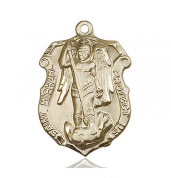 St. Michael Coast Guard Medal Shield - 14K Solid Gold