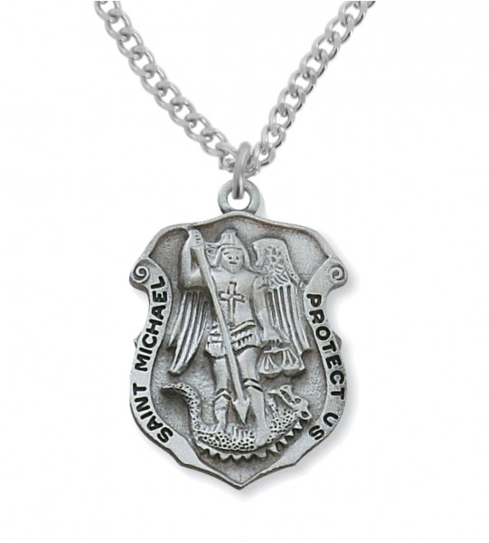St. Michael Medal Pewter - Pewter