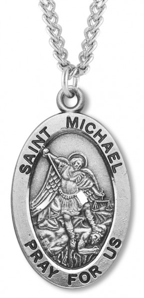 St. Michael Medal Sterling Silver - Sterling Silver