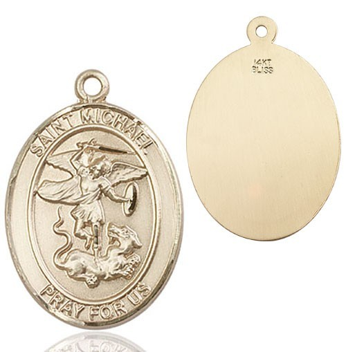 St. Michael Medal - 14K Yellow Gold