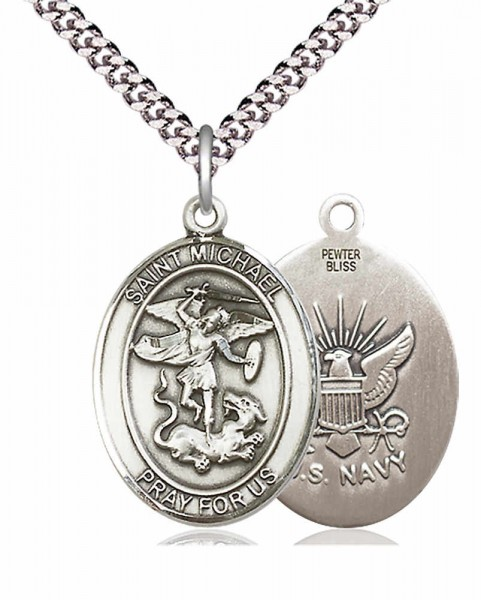 St. Michael Navy Medal - Pewter