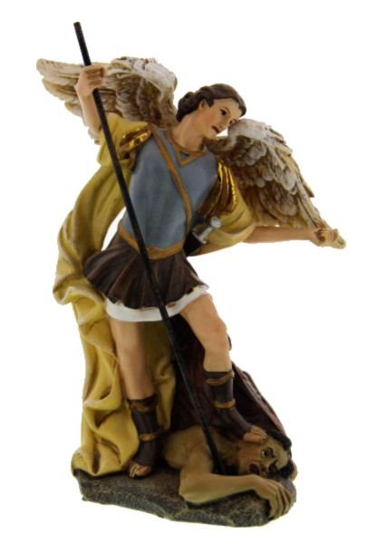 "St. Michael Statue 4.75"" - Multi-Color Browns"