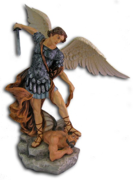 St. Michael Statue, Full Color - 29 inches - Full Color