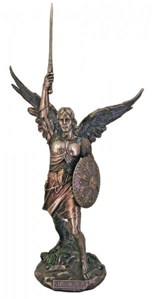 St. Michael Statue without Devil - 18 inches - Bronze