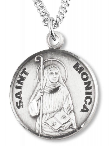 St. Monica Medal - Sterling Silver