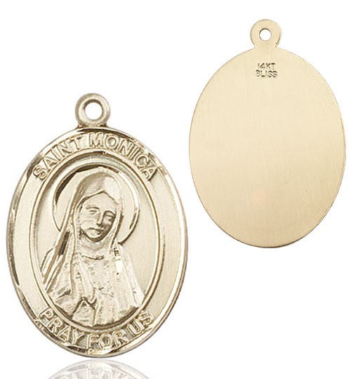 St. Monica Medal - 14K Yellow Gold