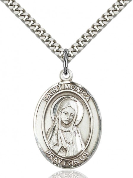 Oval Saint Monica Medal - Pewter