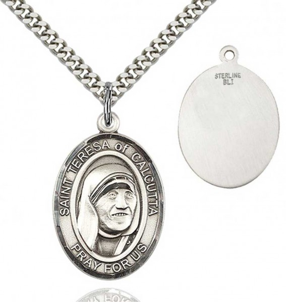 St. Mother Teresa of Calcutta Medal - Sterling Silver