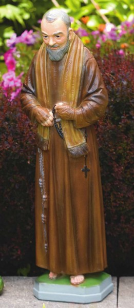 St. Padre Pio 25 Inches - Detailed Color Finish