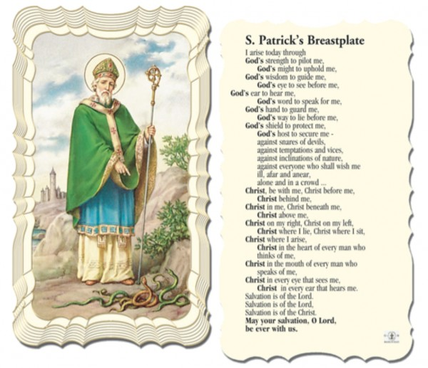 St. Patrick Breastplate Paper Prayer Cards 50 Pack - Full Color