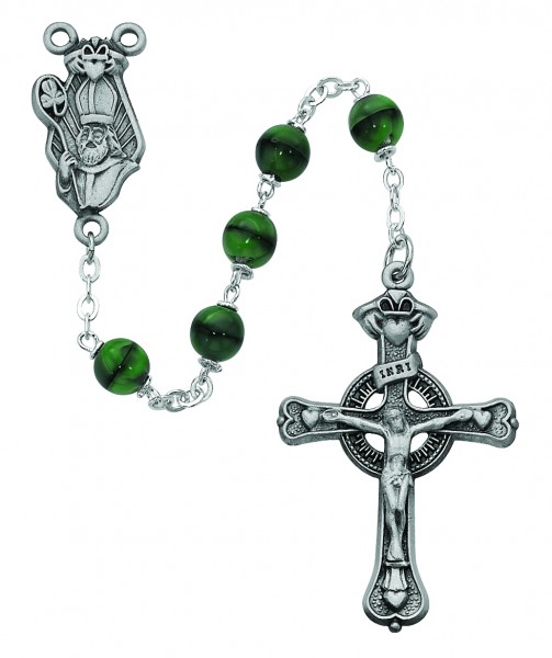 St. Patrick Celtic Crucifix Rosary - Green
