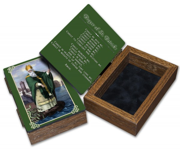 St. Patrick Keepsake Box - Green