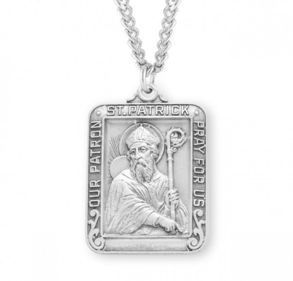 St. Patrick Medal Sterling Silver - Silver