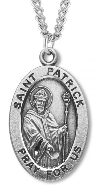 St. Patrick Medal Sterling Silver - Sterling Silver