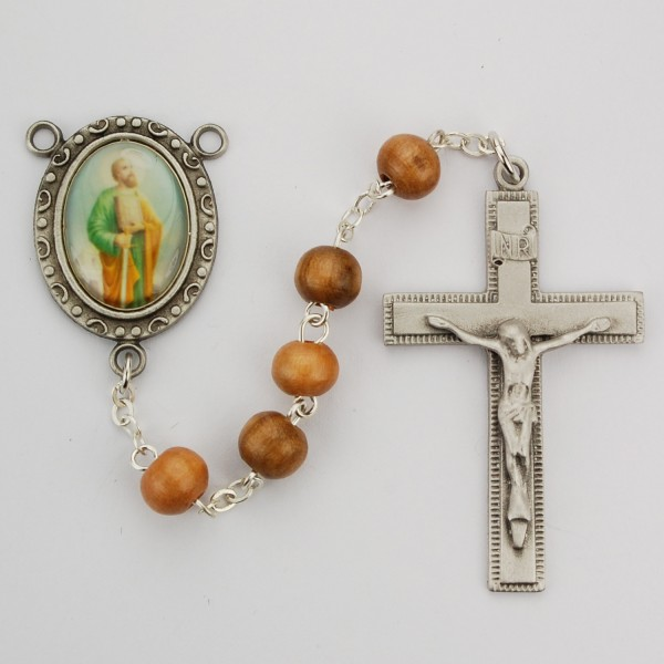 St. Paul Olive Wood Rosary - Brown