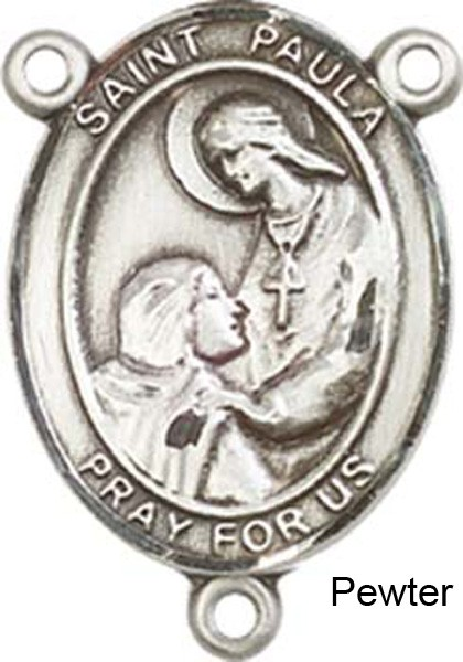 St. Paula Rosary Centerpiece Sterling Silver or Pewter - Pewter