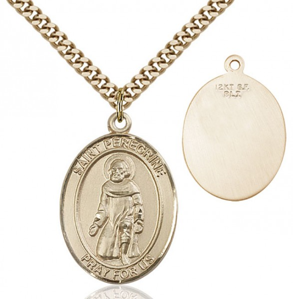 St. Peregrine Laziosi Medal - 14KT Gold Filled