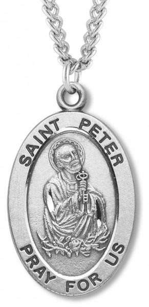 St. Peter Medal Sterling Silver - Silver