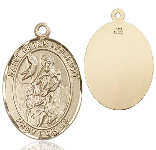 St. Peter Nolasco Medal - 14K Yellow Gold