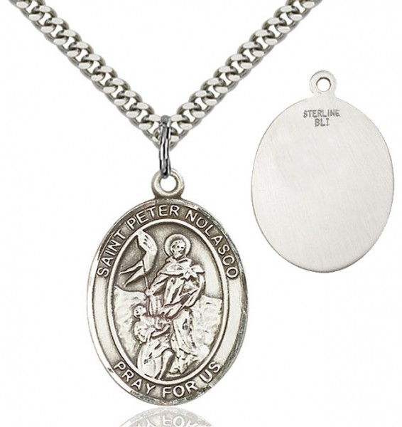 St. Peter Nolasco Medal - Sterling Silver