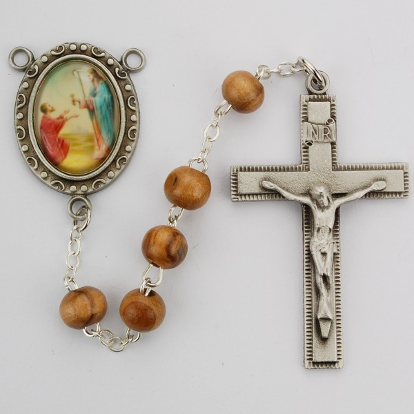St. Peter Olive Wood Rosary - Olive Wood