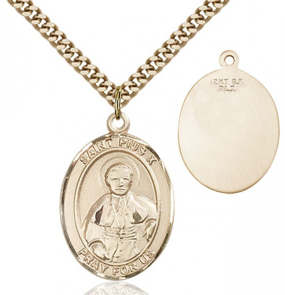St. Pius X Medal - 14KT Gold Filled