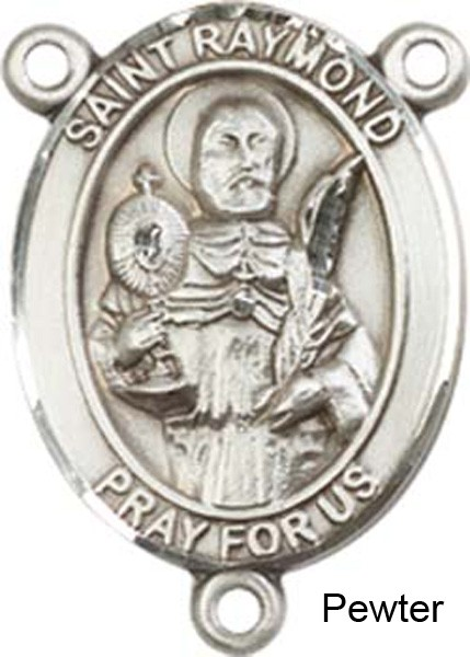 St. Raymond Nonnatus Rosary Centerpiece Sterling Silver or Pewter - Pewter