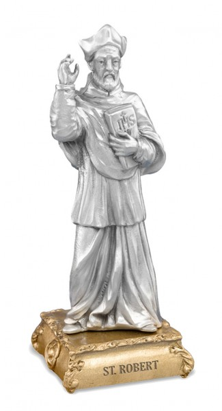 St. Robert Pewter Statue 4 Inch - Pewter