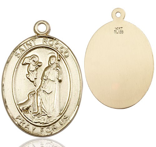 St. Rocco Medal - 14K Yellow Gold