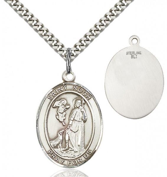 Sterling Silver Saint Roch Medal