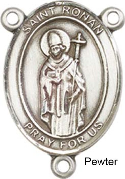 St. Ronan Rosary Centerpiece Sterling Silver or Pewter - Pewter