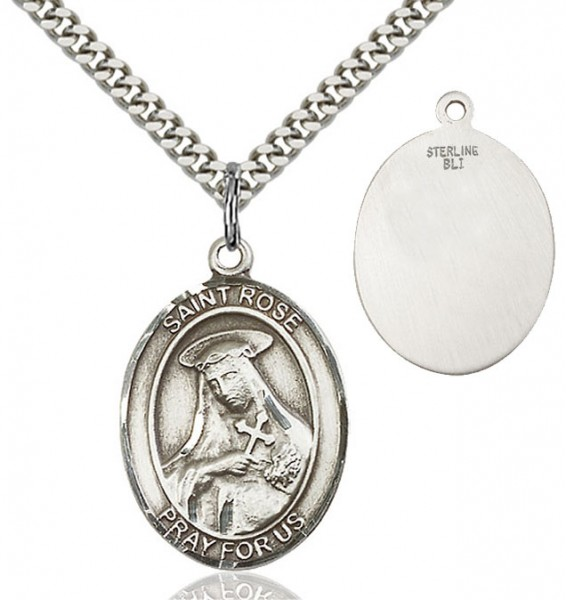 St. Rose of Lima Medal - Sterling Silver